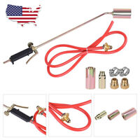 Portable Propane Torch W/3 Nozzles Lawn Landscape Weed Burner Ice Melter US Ship