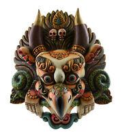 Maschera Tibetano Garuda Khading Aigle 47cm Legno Himalaya Tantra Tibet 26808