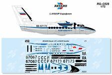 Revaro Decal L-410 UVP Aeroflot for Azmodel / GAVIA model kit 1/72