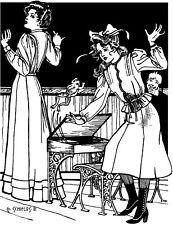 Folkwear Schoolmistress Shirtwaist Skirt Blouse Shirt Sewing Pattern folkwear216