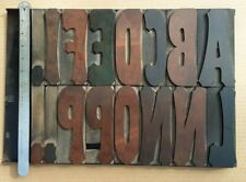 "Antique 6"" Wood Type Letterpress Printing Kelsey Vandercook"