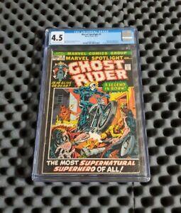 Marvel Spotlight #5 Ghost Rider CGC 4.5 1st Appearance Johnny Blaze Grail Key🔥