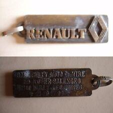 pendentif ou pour porte-clés laiton ancien marquage RENAULT 1,6x4,8cm,18 grammes