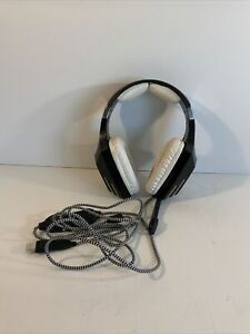 Sades A60 Spellond Gaming Computer Headset Black & White 7.5 ft Long Cord USB
