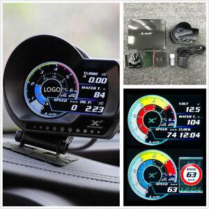 English Version OBD2 Auto Digital Turbo Boost Oil Pressure Temperature Gauge