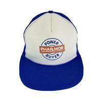 Vintage Trucker Hat Mesh SnapBack Phar-Mor Power Buyer White Blue