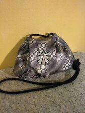 Unique one of a kind Tote Baroche silver black retro evening shoulder bag