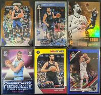 Lot of (6) Marc Gasol, Including Prizm Bronze /20, Optic holo SP & inserts