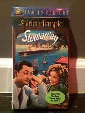 Shirley Temple Stowaway 20th Century Fox Family Feature NIP VHS Tape 1936