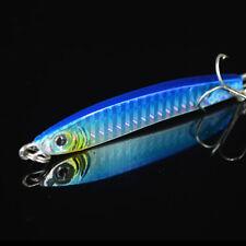 3 Colors Jigging Metal Spoon Lure High Quality VIB Artificial Bait Hook Boat 3c Blue