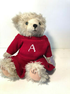 ANNETTE FUNICELLO COLLECTIBLE BEAR CO. ~ RED LETTER SWEATER~ JOINTED