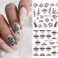 Flower Nail Water Decals Sakura Daisy Floral Pattern Transfer Stickers Paper DIY