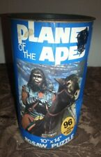 Vtg 1967 Planet Of The Apes Sealed 96Pc General Aldo 10 x 14 Jigsaw Puzzle Can *