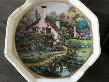 Franklin Mint cottage Plate-A Coxy Glen-Violet Schwenig-heirloom Collection
