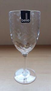 6 x Clear Dimple Effect Bello Plastic Wine Goblet 8cm diameter x 20cm Cheap!