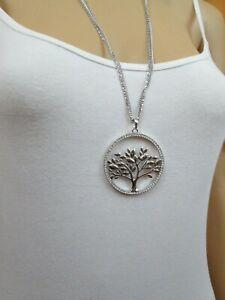 Halskette, Collier, Kette, symbolisierter Lebensbaum, Modeschmuck Statement