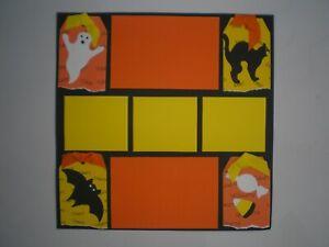 Halloween 1 #407 premade scrapbook pages