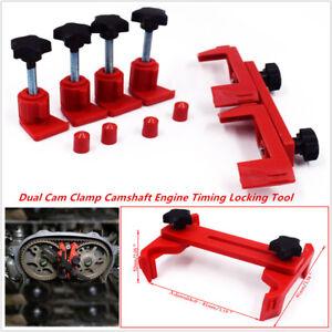 5pcs Dual Cam Clamp Camshaft Engine Timing Sprocket Gear Locking Kit