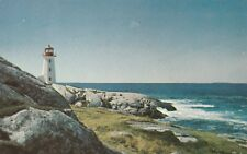 "*Canada Postcard-""Lighthouse & Surf-Fishing Village..Peggy's Cove"" /Novia Scotia"