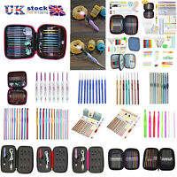 8-100x Aluminum Crochet Hook Multicoloured Craft Knitting Yarn Needle Set Kit UK