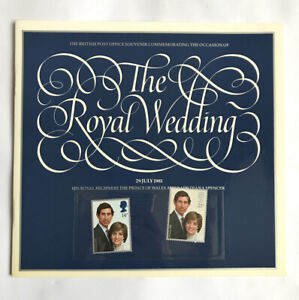 British Post Office Mint Stamps The Royal Wedding 29 July 1981 Charles Diana