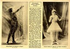 Exzentrische Pariser Bühnenkostüme: Pretty Myrtill & Suzanne Landray von 1913