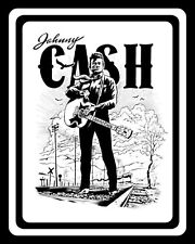 JOHNNY CASH COUNTRY MUSIC BOY NAMED SUE FOLSOM PRISON METAL PLAQUE TIN SIGN 1081