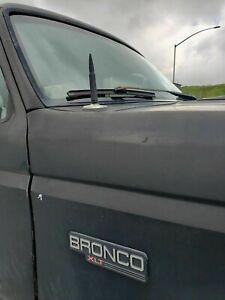 Bullet Style 0.5 Cal Short Black Antenna Mast Power for FORD BRONCO 1980-1996