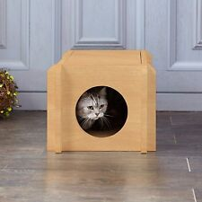 Way Basics Eco Friendly Cat House Condo - Non-Toxic, Formaldehyde Free, Natural