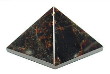 PYRAMID - GARNET 26-30mm Crystal w/Pouch & Description - Healing Reiki Stone