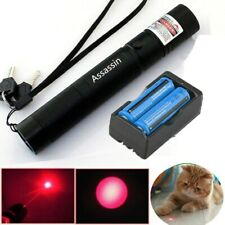 Rechargeable 800Mile Red Laser Pointer Pen Visible Beam Light Presentation 18650