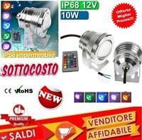 Faretto Led Proiettore Orientabile 10W RGB COB Lampada Esterno Impermeabile12V