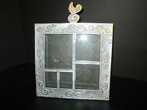 """Pewter Collage Tabletop Picture Frame, 9"""" x 9"""", 5 Photos"""