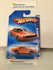 '69 Camaro #77 * ORANGE * 2009 Hot Wheels * J5