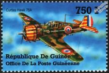 WWII Curtiss P-36 HAWK Model 75 / 75A Fighter Aircraft Stamp (2002 Guinea)