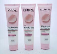 3 x L'Oreal Fine Flowers Gel-Cream Wash For Sensitive Skin 150ml