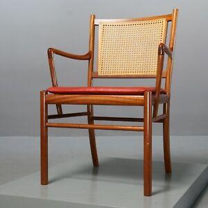 Armlehnstuhl PJ 301 von Ole Wanscher für P.J. Jeppesen Stuhl Mahagoni Sessel