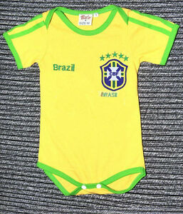 0-12 MONTHS OLD BABY 100% COTTON  BABY-SUIT - BRAZIL HOME ROMPER!!