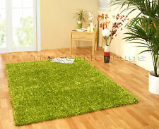 Spider Shaggy Flair Rugs Thick Super Soft Hard Wearing Deep Pile Oblong Rug Lime Green 110 X 160 Cm