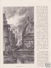 Straßburg Innenstadt Canal Alsace HOLZSTICHE um 1880