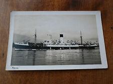 Lot92f AJAX Steam Ship Postcard