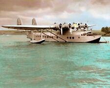 "PAN AMERICAN SAMOAN CLIPPER 1937 SIKORSKY S-42 8x10"" HAND COLOR TINTED PHOTO"