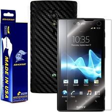 ArmorSuit MilitaryShield Sony Ericsson Xperia ion Screen + Black Carbon Fiber