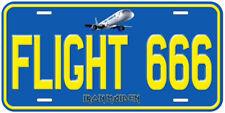 Flight 666 Iron Maiden Aluminum Novelty Tag Car License Plate