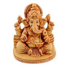 "GANESHA STATUE 2.75"" Ganesh Tan Resin Hindu Elephant God Sitting Indian Deity"