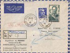 LETTRE PAR AVION PORNICHET POUR LA VALETTE MALTE POSTE RESTANTE 1946