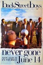 Backstreet Boys - Never Gone - Original Rolled Rock Promo Poster (2005)