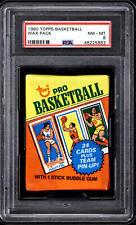 1980-81 Topps Basketball Unopened Pack PSA 8 NM-Mint Bird Magic Johnson *883