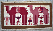 Tapisserie ancienne tapis antique rug Gafsa Tunisie 1960