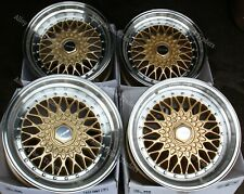 "16"" GOLD PL RS ALLOY WHEELS FITS 4x100 BMW MAZDA MITSUBISHI NISSAN MODELS"